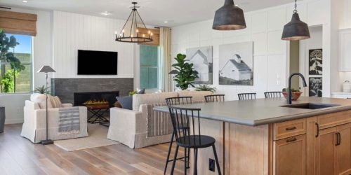 Preakness Estates Kitchen & Living space