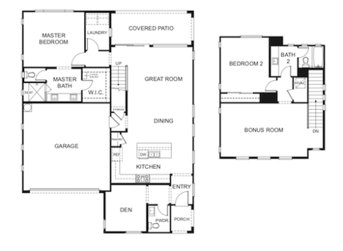 Madison Park Chandler, The Galveston Floorplan
